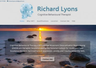Richard Lyons, Cognative Behavioural Therapist